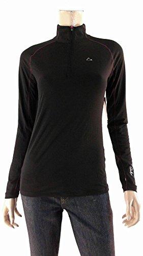Paradox® Ladies' Merino BlendTM Base Layer ¼ Zip Top-Black, Small