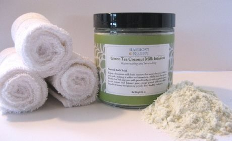 Green Tea Coconut Milk Infusion - The Most Amazing Bath Soak! Balances And Relaxes The Body And Spirit... Can Also Be Used As A Foot Soak Or A Face/Body Scrub - 16 Oz front-505411