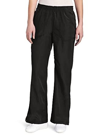 WonderWink Women's Scrubs Four Way Stretch Flip Flare Leg Pant, Black, X-Small