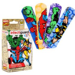 Marvel Comics Kid's Infectiguards Bandages 20ct Boxes (4-pk)