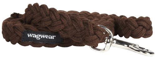 Wagwear Braided Fisherman Leash - Brown - Small