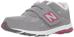 New Balance KV990 Hook and Loop Running Shoe (Infant/Toddler),Grey/Pink,2 XW US Infant