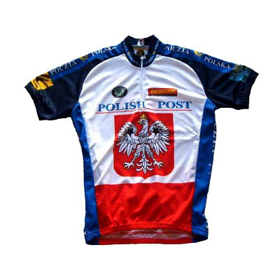 Image of World Jersey's Polish Postal Team Cycling Jersey (B0002734BS)