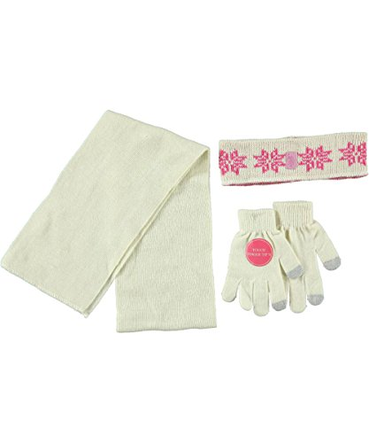 U.S. Polo Assn. Gentle Snowflakes 3-Piece Winter Accessories Set - cream, 7 - 16