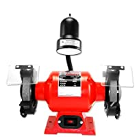 Neiko Professional Grade 6-Inch Bench Grinder with Flexible Light by Neiko