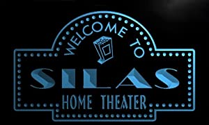 ph735-b Silas Home Theater Popcorn Bar Beer Neon Light Sign