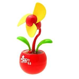 Mini Apple flower USB Desk Fan in Red