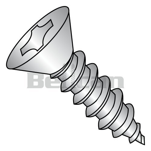 Pack of 100 #6-20 Thread Size Type AB 3//4 Length Yellow Zinc Plated Finish Phillips Drive 82 degrees Flat Head Steel Sheet Metal Screw