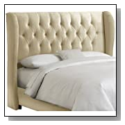 Velvet Tufted Wingback Queen Headboard