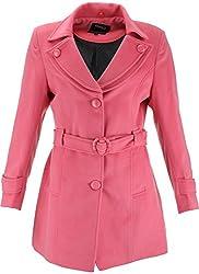 Panache Women's Slim Fit Coat (M001 _ Medium, Pink)