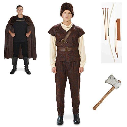 [Huntsman Adult Costume Medium Cape Axe Arrow Bundle Set] (The Huntress Arrow Costume)