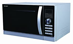 Sharp 25 Litre Dual Grill Combination Microwave, Silver