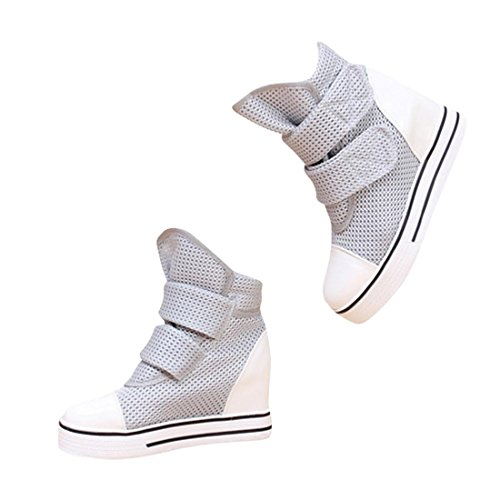 Jeansian Women'S Fashion Sneakers Shoes Gray 35