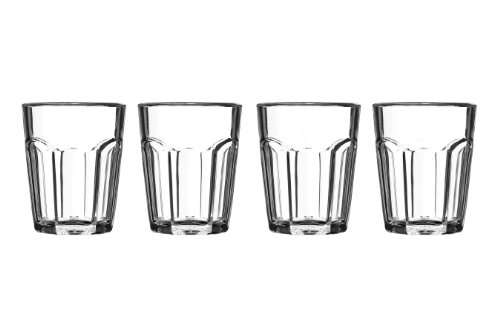 Premiere Housewares 1206283 Set 4 Bicchierini in Plastica, Trasparente