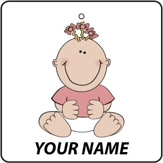 Personalised Baby Girl On Board Car Air Freshener back-121329