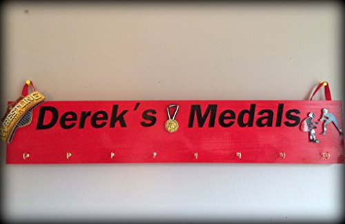 Click to check All sports Wrestling Medal Holder, Wrestling Medal Display (Wrestling Belt Display Case compare prices)