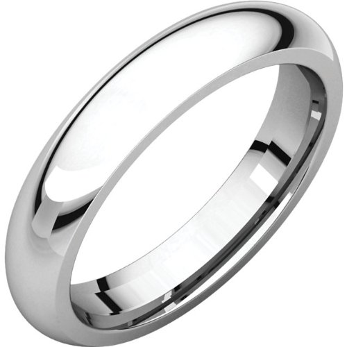 Platinum 4mm Comfort Fit Wedding Band (Platinum 4mm Band compare prices)