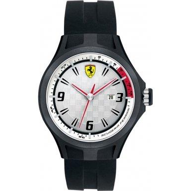 Ferrari 830001 - Reloj analógico de cuarzo para hombre, correa de silicona color negro