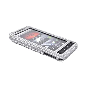 For Motorola Droid X Bling Hard Case Cover SILVER
