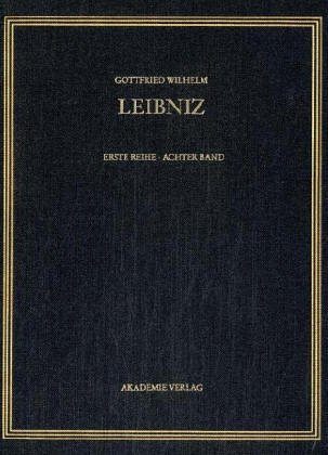 Gottfried Wilhelm Leibniz. Sämtliche Schriften und Briefe: 1692: 8