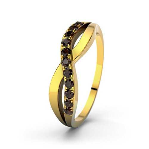 21DIAMONDS Women's Engagement Ring Brookelyn Smoky Quartz Brilliant Cut, 18K Yellow Gold Diamond Engagement Ring