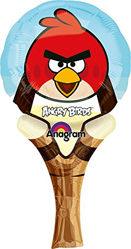 "Anagram International Angry Birds Inflate-A-Fun Balloon, 12"", Multicolor"