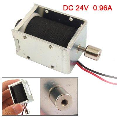 0.96A Dc 24V Open Frame Push Type Solenoid Electromagnet front-163951