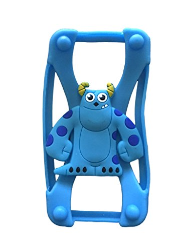 Monsters Inc Sulley Universal Silicone Frame Bumper for iPhone 6 / 6S / 5 / 5S / 4 / 4S Soft Gel Phone Case Cover Fits Any Brand of Phone up to 5.5 Inch (Monsters Inc Cases For Iphone 5s compare prices)