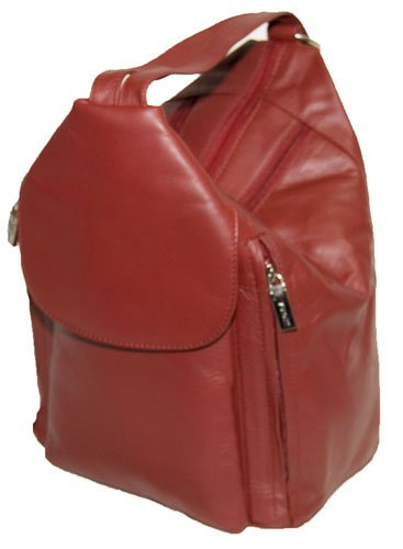 Visconti Genuine Leather Secure Rucksack Handbag # 18357