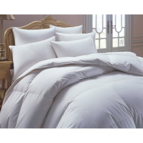 800 Thread Count Baffle Box Medium Weight GOOSE DOWN Comforter, All Year, White, Queen