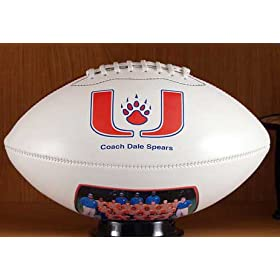 <b>YOUR PHOTO Football Regulation Size. Great for game balls, gifts, coaches, players, fans, awards, contests, graduations, seniors, leagues, high school, college, varsity, holidays, parents, trophies, clubs. Print pictures, individuals, teams, logos.</b>