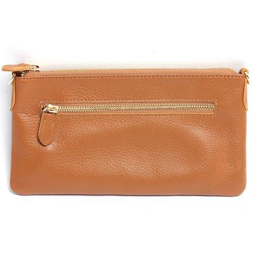 【本革 ミニ ポシェット】小ぶりながら長財布がすっぽり入るショルダーバッグ (BLACK)