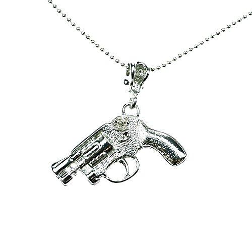 Poizen Industries Pistola P1-Collana da donna, colore: nero/argento, taglia unica Modest Wear, argento, Taglia unica