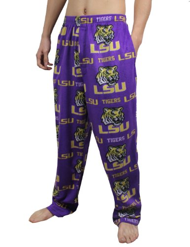 NCAA LSU Tigers Mens Polar Fleece Sleepwear / Pajama Pants M Purple at Amazon.com