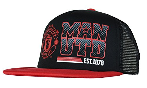 Manchester United Adjustable Cap Hat Trucker New Season (Black) (Manchester United Hats And Caps compare prices)