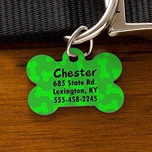 Personalized Dog ID Tags - Bone