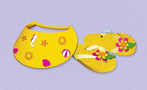 flip flop/visor activity kit - 1