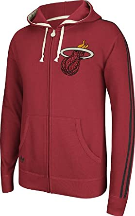 Miami Heat Adidas 2013-2014 Red Springfield Full Zip Hooded Sweatshirt by adidas