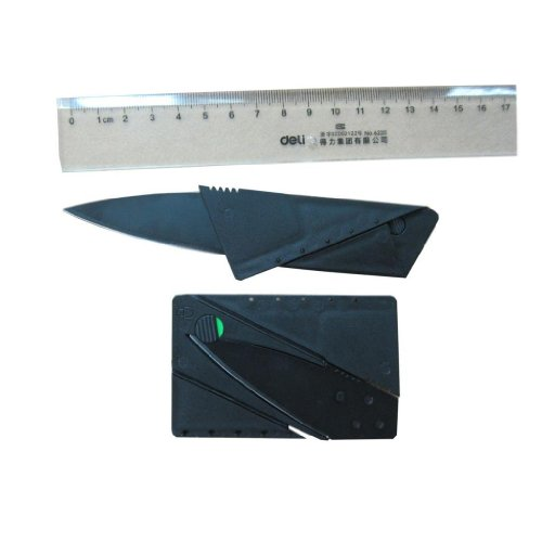 Moda Seya Credit Card Folding Safety Knife (Black) 120Pcs