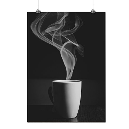 Steaming Hot Coffee Cup Of Tea Matte/Glossy Poster A2 (17x24 inches) | Wellcoda (Ice Cream Furniture compare prices)