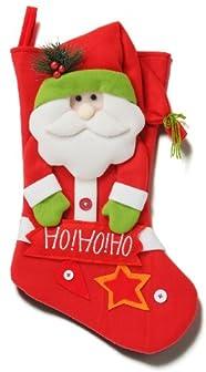 クリスマスサンタソックスレッド