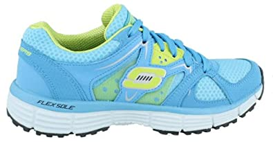 Women's Skechers, New Vision Training Shoes BLUE LIME 9.5 M