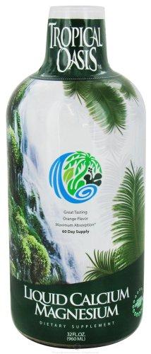 Tropical Oasis - Liquid Calcium Magnesium Orange Flavor - 32 Oz.