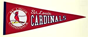 Saint Louis Cardinals Cooperstown Collection Wool Blend MLB Baseball Pennant by Winning Streak Sports