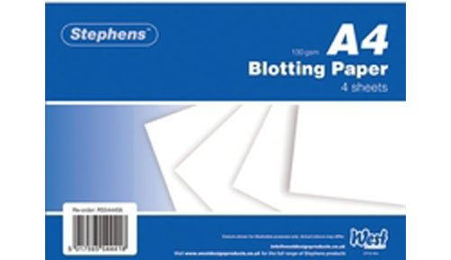 Stephens White Blotting Paper 4Sheets