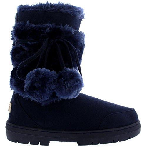 damen-schuhe-pom-pom-fell-schnee-regen-stiefel-winter-fur-boots-marine-nav40-aea0314