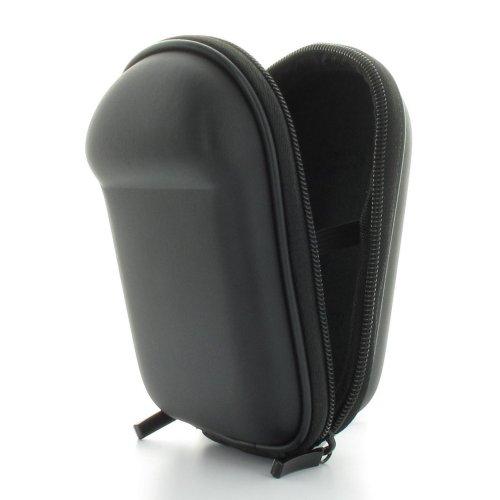 Kameratasche mit glatter Oberfläche inkl. Handschlaufe und Karabiner - Größe Kompaktkamera M - passend für Canon PowerShot SX220 - SX230 - SX240 - SX260 -- Nikon Coolpix L25 - Coolpix P310 - S6300 - Coolpix S9300 -- Panasonic Lumix DMC TZ25 - DMC TZ31 -- Samsung WB150F - WB850F -- Sony H90B - HX10 - HX20 - RX100 -- Schwarz