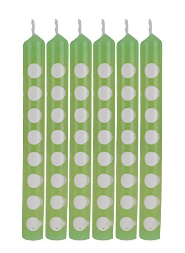 Creative Converting 12 Count Polka Dots Birthday Cake Candles, Fresh Lime - 1