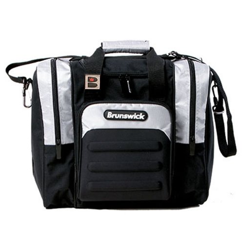 brunswick-flash-single-tote-bolsa-de-bolos-color-negro-plata