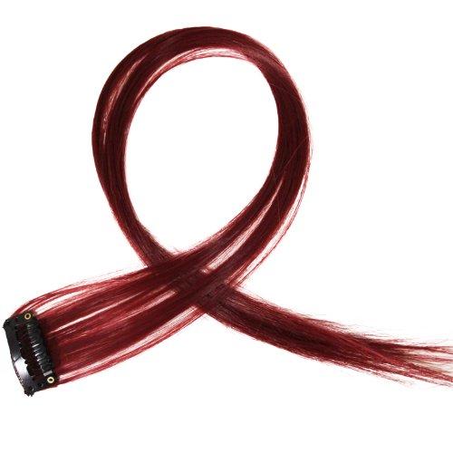 """Bunte Strähnchen 1 x Clip In Extensions 50cm (20"""") Haarverlängerung glatt langhaarHaarteil (16)"""